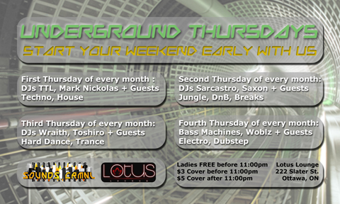 Underground Thursdays Flyer (Back)