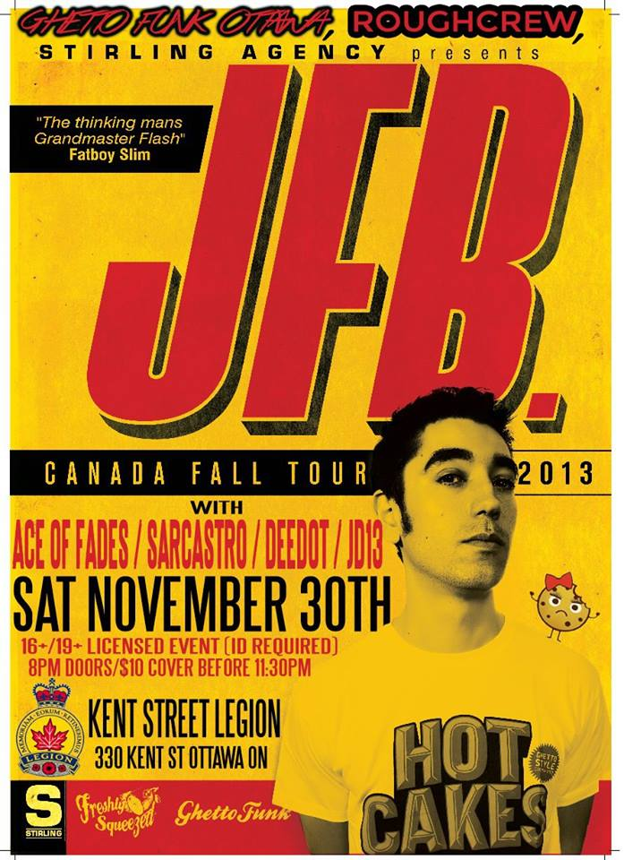 Flyer - JFB @ Ottawa Kent Legion (Nov.30 2013)